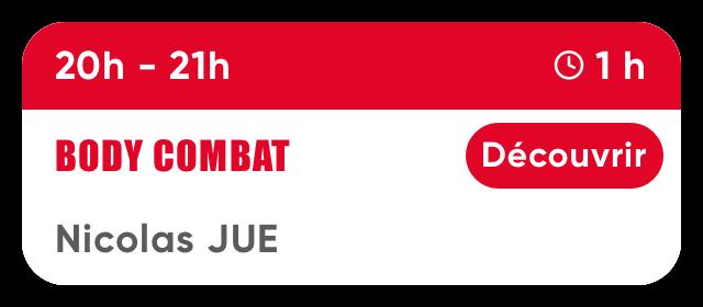 Jeudi 20h-21h Body Combat