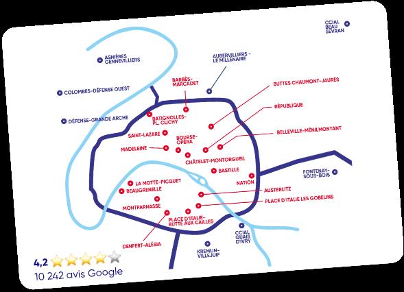 Carte des clubs Neoness en France